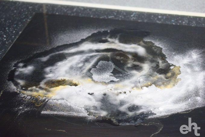 how to remove ceramic hob burn marks